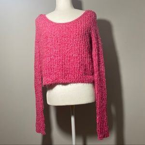 Abercrombie & Fitch Sweaters - Abercrombie&Fitch Fluffy Crocheted Cropped Sweater